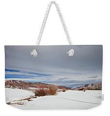 Snowy Field Weekender Tote Bag by Sean Allen