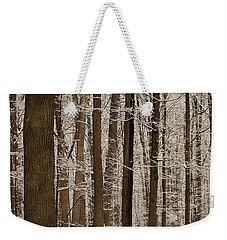 Snowy Forest Elevation Weekender Tote Bag