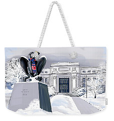 Snowy 'hawk Weekender Tote Bag