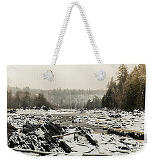 Snowy Morning At Jay Cooke Weekender Tote Bag