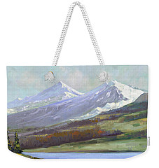 Snowy Mountains Weekender Tote Bag