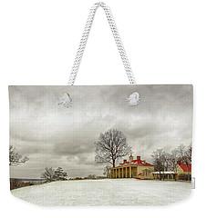 Snowy Mt Vernon Weekender Tote Bag