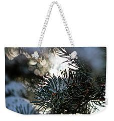 Snowy Needles Weekender Tote Bag