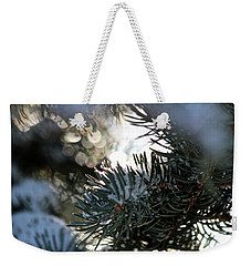 Snowy Needles Weekender Tote Bag