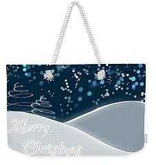 Snowy Night Christmas Card Weekender Tote Bag