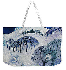 Snowy Night  Weekender Tote Bag by Lisa Graa Jensen