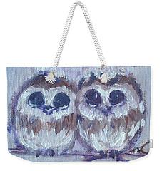 Snowy Owl Chicks Weekender Tote Bag