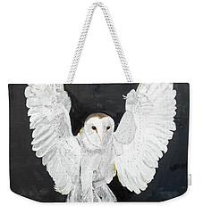 Snowy Owl Weekender Tote Bag by Christine Lathrop