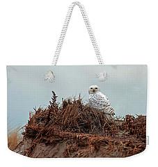 Snowy Owl In Dunes Weekender Tote Bag