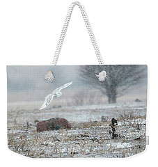 Snowy Owl In Flight 3 Weekender Tote Bag