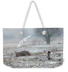 Snowy Owl In Flight 3 Weekender Tote Bag