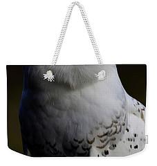 Snowy Owl Profile Weekender Tote Bag by Steve McKinzie