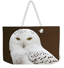 Snowy Owl Weekender Tote Bag by Steve Stuller