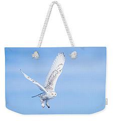 Snowy Owls Soaring Weekender Tote Bag