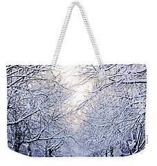 Snowy Pathway Weekender Tote Bag by Marius Sipa