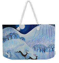 Snowy Peace Weekender Tote Bag by Lisa Graa Jensen