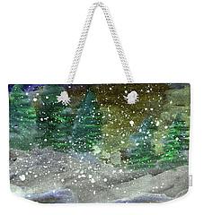 Snowy Pines Weekender Tote Bag by R Kyllo