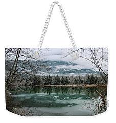 Snowy Reflection Weekender Tote Bag