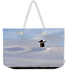 Snowy Roof With Stove Pipe Weekender Tote Bag
