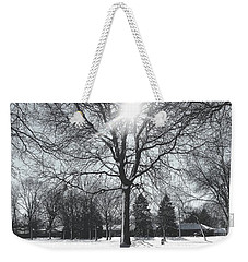 Snowy Shadows Weekender Tote Bag