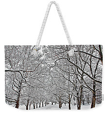 Snowy Treeline Weekender Tote Bag by Aimee L Maher Photography and Art Visit ALMGallerydotcom