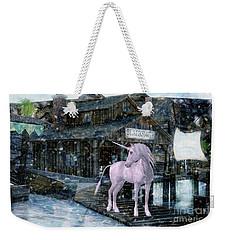 Snowy Unicorn Weekender Tote Bag