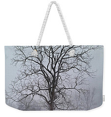 Weekender Tote Bag featuring the photograph Snowy Walnut by Denise Romano