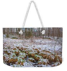 Snowy Wetlands Weekender Tote Bag by Angelo Marcialis
