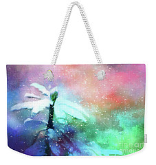 Snowy Winter Abstract Weekender Tote Bag