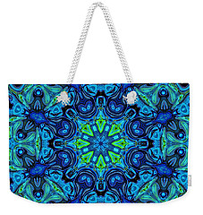 So Blue - 04v2 - Mandala Weekender Tote Bag by Aimelle