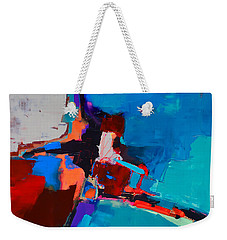Weekender Tote Bag featuring the painting So Far - Art By Elise Palmigiani by Elise Palmigiani