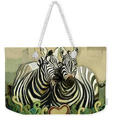 Weekender Tote Bag featuring the painting So In Love by Carrie Joy Byrnes