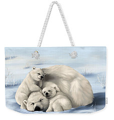 Weekender Tote Bag featuring the painting So Much Love by Veronica Minozzi