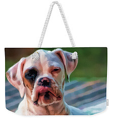 Weekender Tote Bag featuring the digital art So Proud by Kathy Tarochione