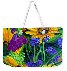 Sunflowers -soaking Up Sunshine Weekender Tote Bag