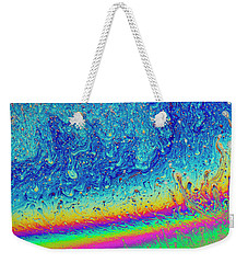 Weekender Tote Bag featuring the photograph Soap Night Sky In Soap by Jean Noren