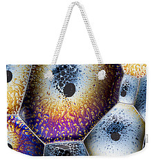 Weekender Tote Bag featuring the photograph Soap Suds Detail by Jean Noren