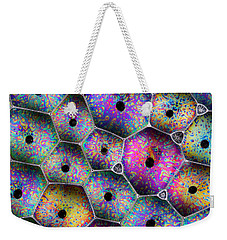 Weekender Tote Bag featuring the photograph Soap Suds Drama by Jean Noren