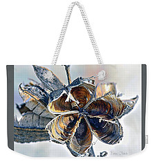 Weekender Tote Bag featuring the photograph Soaptree Yucca Casing by Barbara Chichester