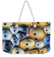 Weekender Tote Bag featuring the photograph Soapy Colors by Jean Noren