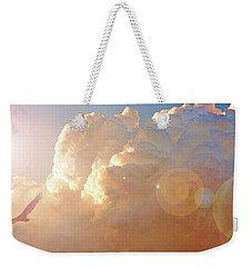 Soaring At Sunset, Hawk Silhouette Weekender Tote Bag by A Gurmankin