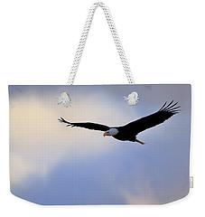 Soaring Bald Eagle Weekender Tote Bag