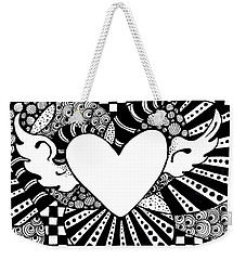 Soaring Heart  Weekender Tote Bag by Nada Meeks