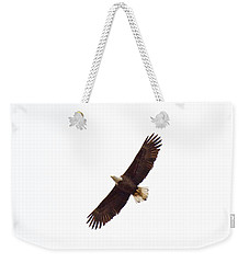 Weekender Tote Bag featuring the photograph Soaring High 0885 by Michael Peychich