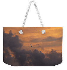 Weekender Tote Bag featuring the photograph Soaring Into The Sunset by Richard Bryce and Family