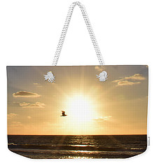 Soaring Seagull Sunset Over Imperial Beach Weekender Tote Bag