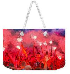 Soccer Fans Pictures Weekender Tote Bag