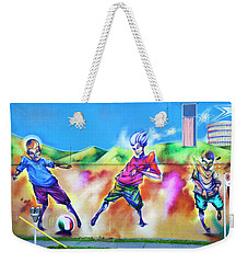 Weekender Tote Bag featuring the photograph Soccer Graffiti by Theresa Tahara