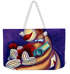 Sock Monkey With Kazoo Weekender Tote Bag