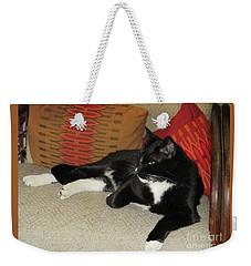 Socks The Cat King Weekender Tote Bag by Fred Jinkins